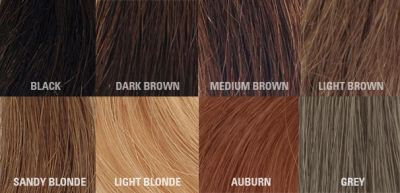 KeraThik Hair Fiber Colour Chart